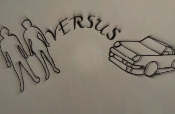 mens versus auto bewerkt